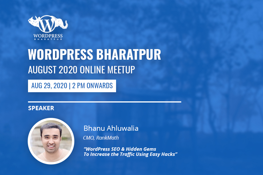 WordPress Bharatpur August Meetup 2020 Online
