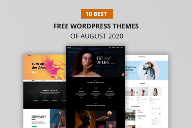 10 Best Free WordPress Themes of August 2020