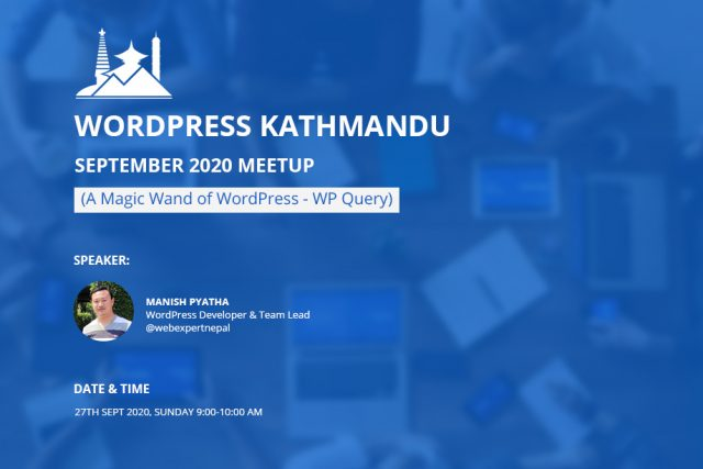 WordPress Kathmandu September Meetup 2020 ONLINE