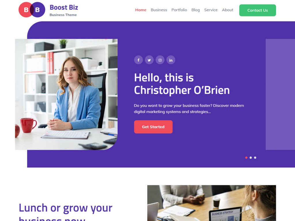 Boost Biz -10 Best Free WordPress Themes of August 2020