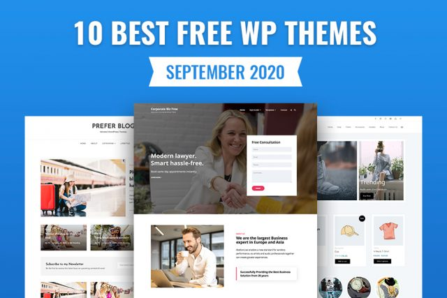 10 Best Free WordPress Themes – September 2020