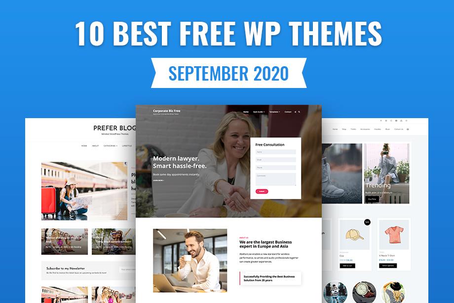 10 Best Free WordPress Themes - September 2020