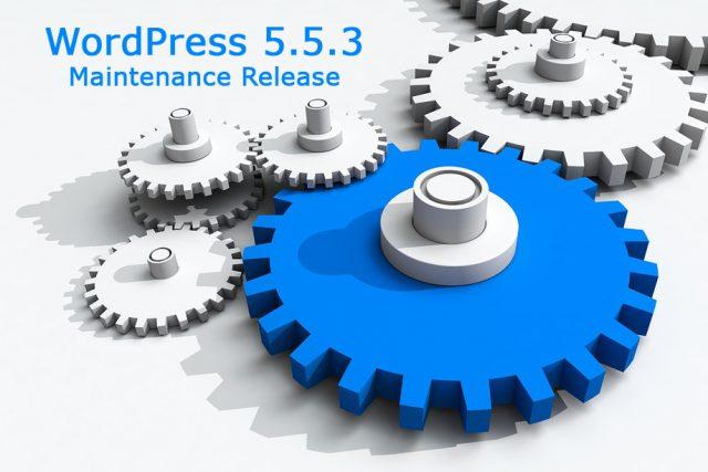 WordPress 5.5.3 Maintenance Release