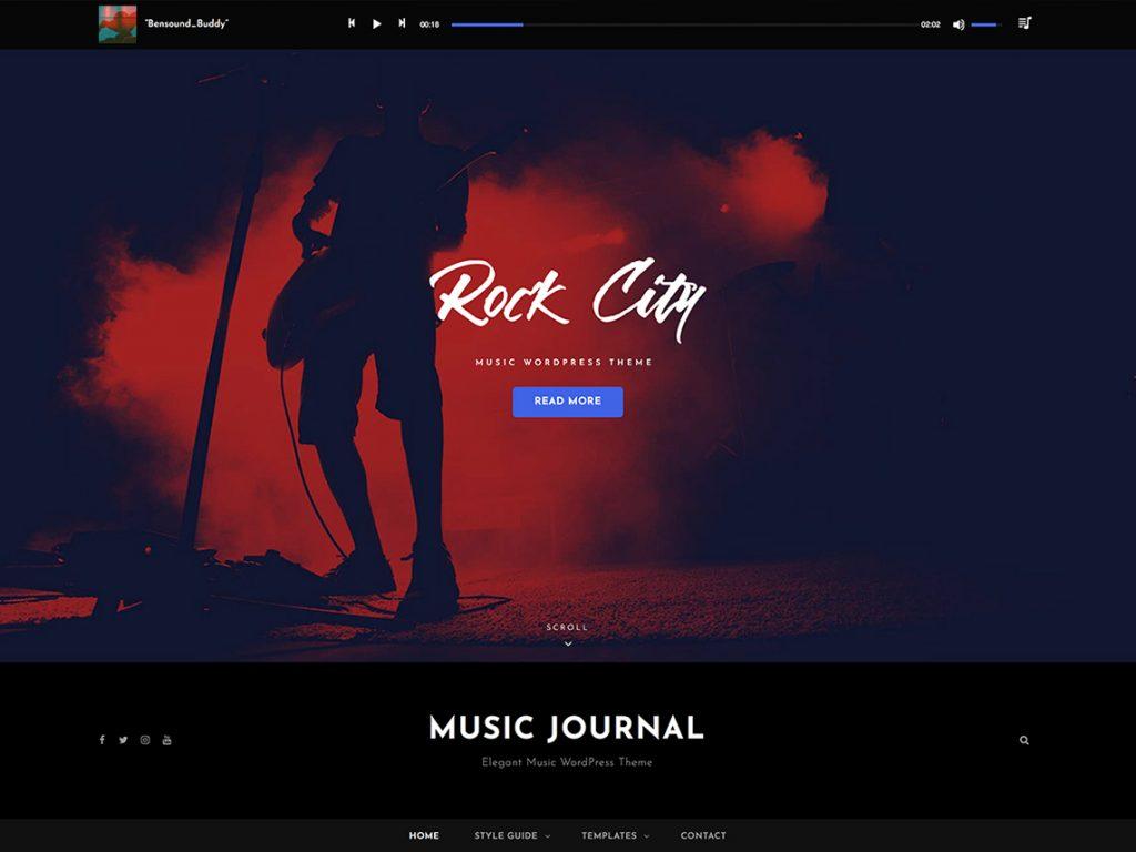 Music Journal - Best Free WordPress Themes September 2020