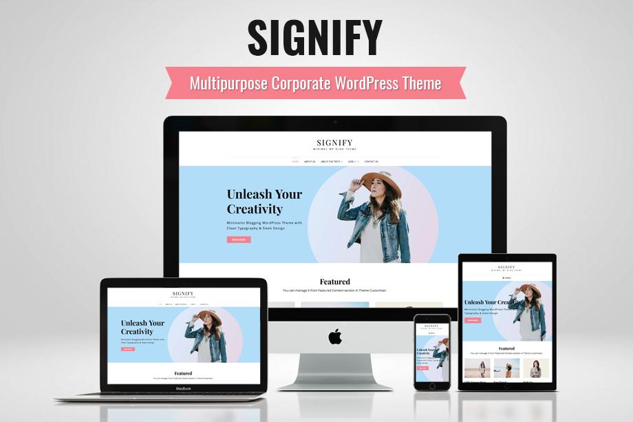 Signify - Multipurpose Corporate WordPress Theme