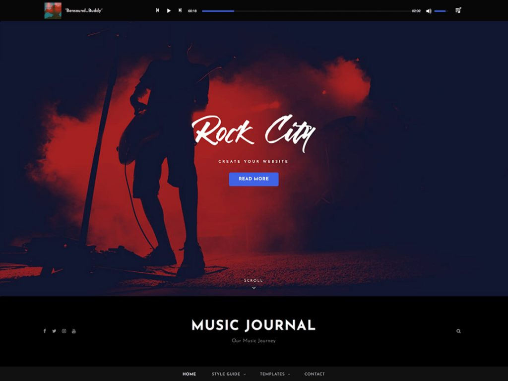 Music Journal - 10 Best Free WordPress Themes of October 2020