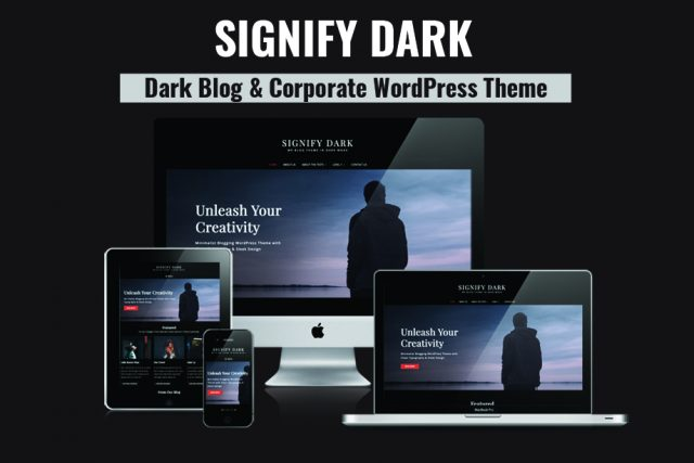 Theme Review: Signify Dark – A Free Blog and Corporate WordPress Theme with Dark Color Scheme