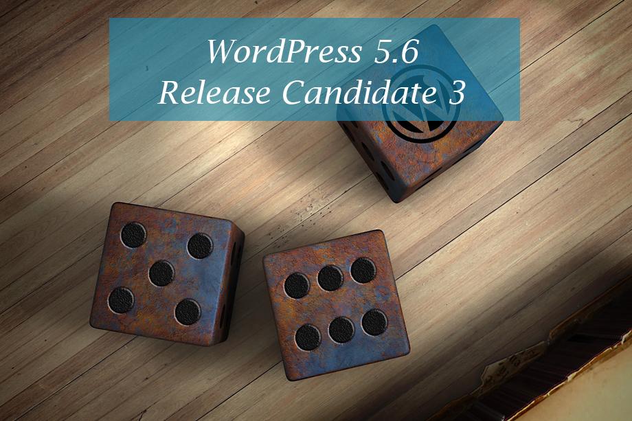 WordPress 5.6 Release Candidate 3 main image