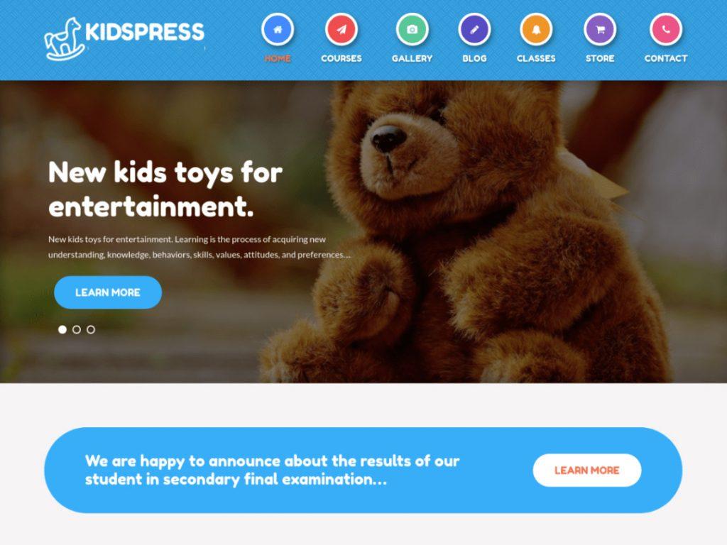 Kidspress -10 Best Free WordPress Themes of November 2020