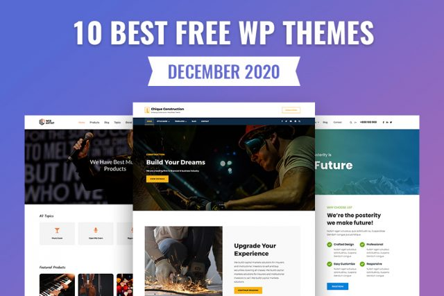 10 Best Free WordPress Themes of December 2020