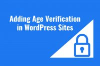Adding Age Verification in WordPress Sites