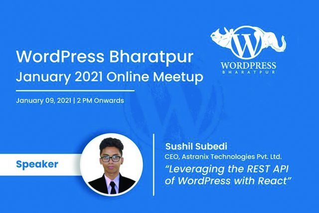 WordPress Bharatpur January Meetup 2021 ONLINE