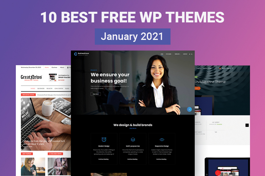 10 Best Free WordPress Themes of January 2021