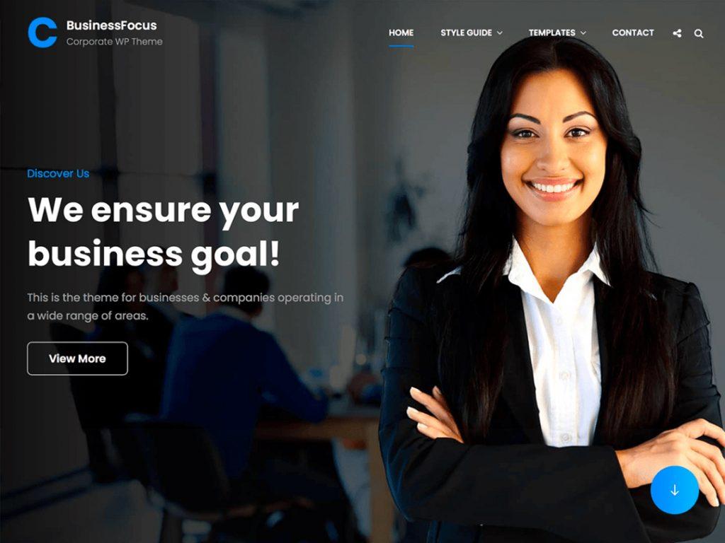 BusinessFocus - 10 Best Free WordPress Themes of January 2021