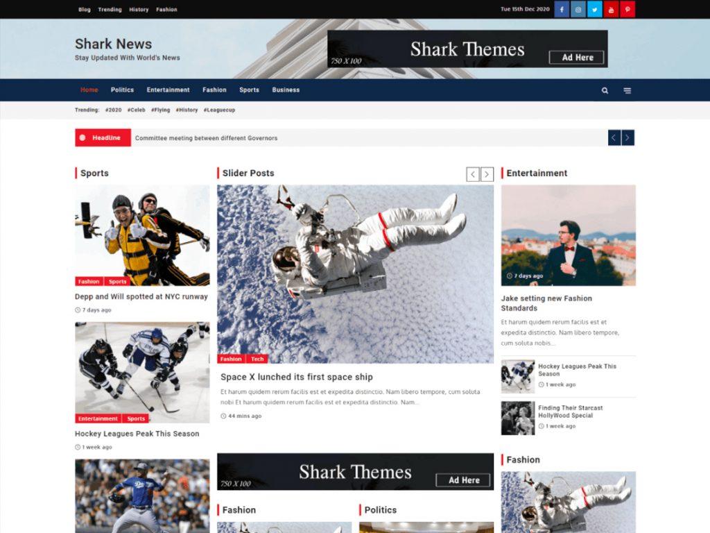 Shark news - 10 Best Free WordPress Themes of January 2021