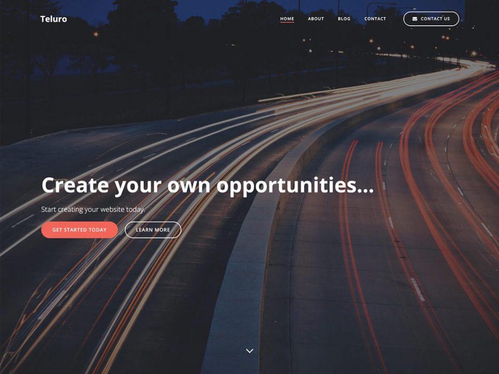 Teluro -10 Best Free WordPress Themes of January 2021