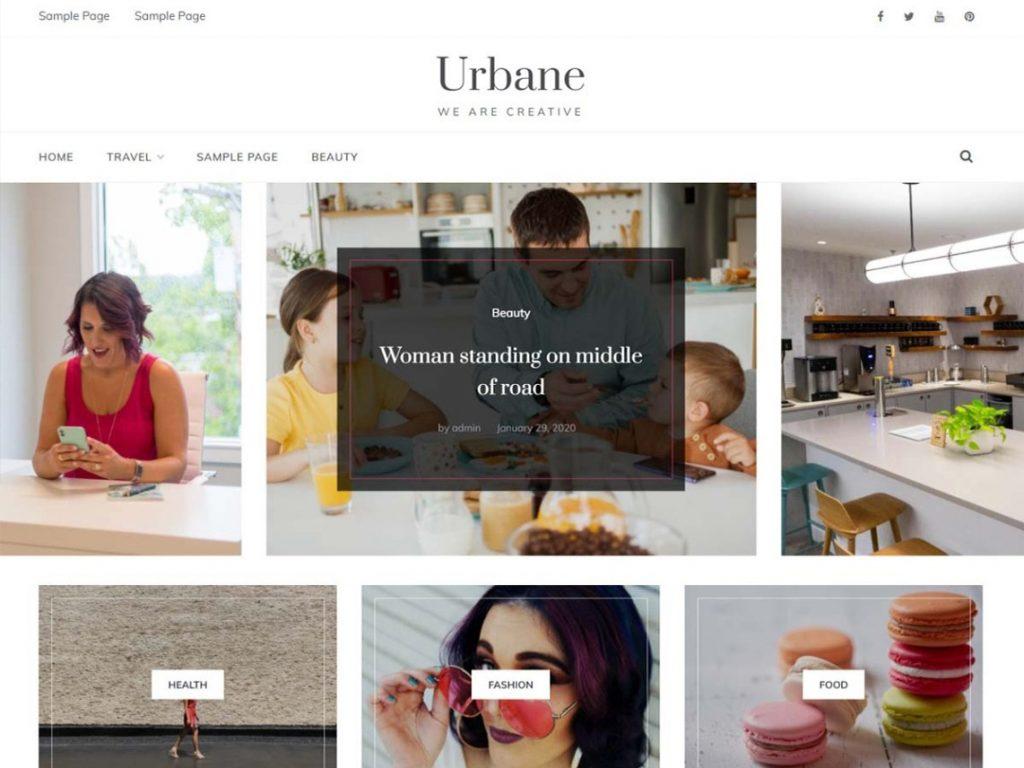 Urbane - 10 Best Free WordPress Themes of January 2021