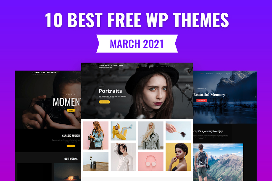 10 Best Free WordPress Themes of March 2021 Featured Image