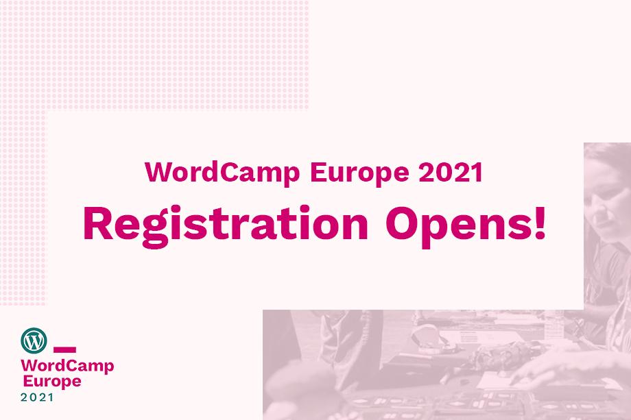 WordCamp Europe 2021 Registration Opens