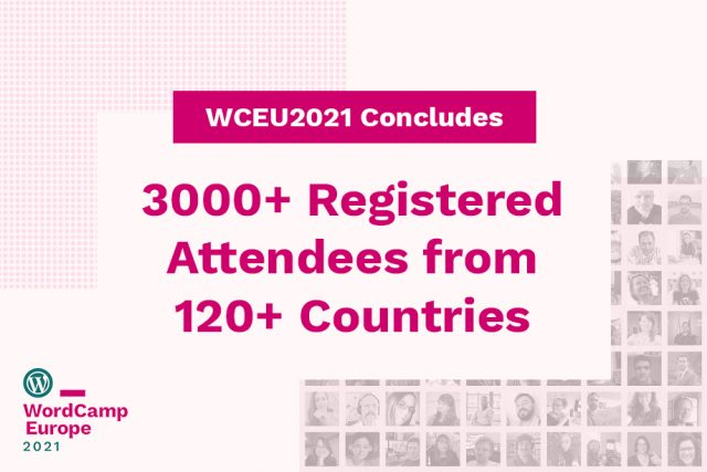 WordCamp Europe 2021 Concluded! 3200+ Registered Attendees from 120+ Countries
