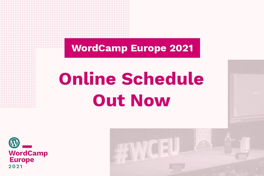 WordCamp Europe 2021 Online Schedule