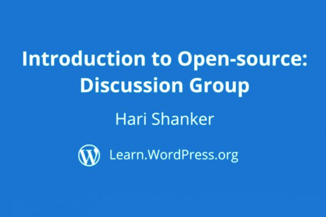 """Group Discussion on """"Introduction to Open Source"""""""