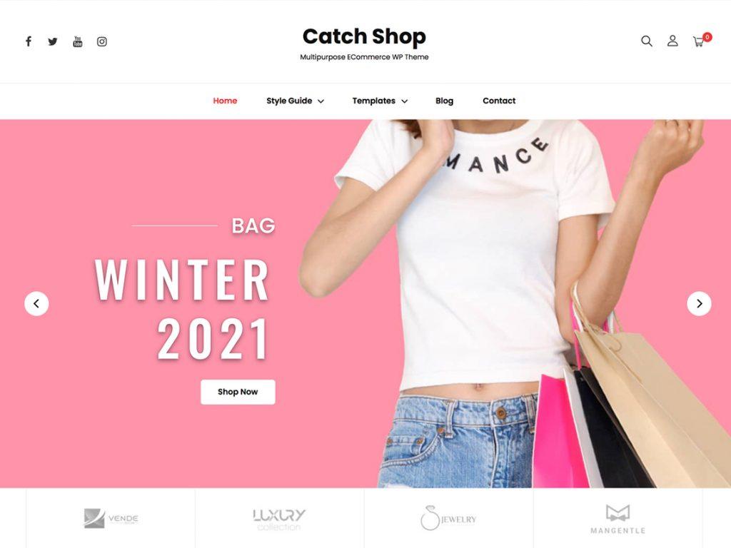 Catch Shop - 10 Best Free WordPress Themes of July 2021