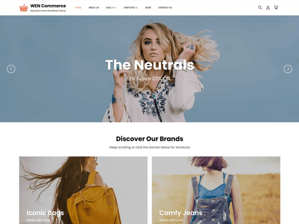 WEN Commerce - 10 Best Free WordPress Themes of July 2021
