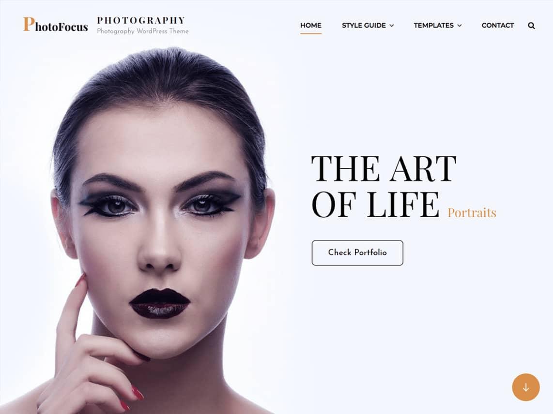 PhotoFocus Light - 10 Best Free WordPress Themes of August 2021