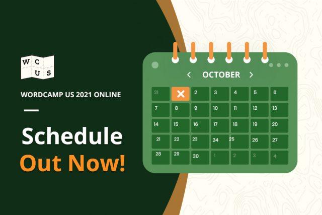 WordCamp US 2021 Online Schedule